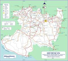 Mexico Map With States by Download Map Of Michoacan Mexico State Maps Major Tourist