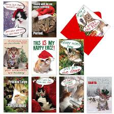 10 awesome cat christmas cards cat lady confidential