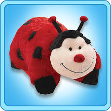 pillow pet ms ladybug 18 inch large folding plush stuffed animal