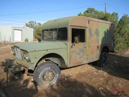 jeep kaiser lifted jeep kaiser m725 military ambulance truck camper original