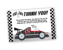 get the cool sporty red racing car thank you cards you u0027ve been