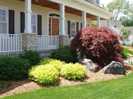 landscaping companies in michigan in the front yard with beautiful