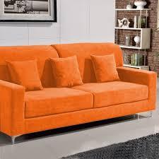 canapé convertible orange canape orange intérieur déco