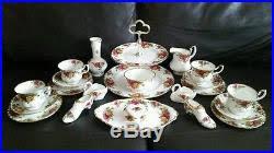 22 royal albert country roses bone china service