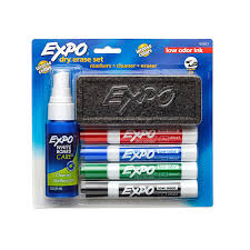 amazon com expo low odor dry erase set chisel tip assorted