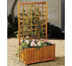 Wooden Planter With Trellis Misc Models Teak Patio Furniture Teak Outdoor Furniture
