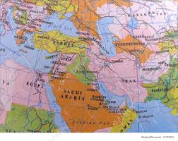 Map Middle East by Globe Map Puzzle Middle East Image