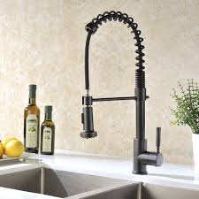 rubbed bronze pull kitchen faucet rubbed bronze kitchen sink faucet with pull sprayer