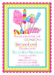 candyland birthday party invitations sweet shop birthday party