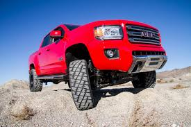lifted gmc red bds new product announcement 223 colorado canyon coilover kits bds
