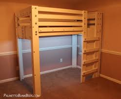 twin size loft bed with storage palmetto bunk beds