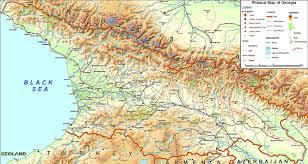 State Map Of Georgia by Physical Map Of Georgia U2022 Mapsof Net
