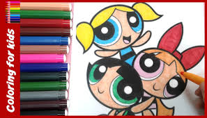 the powerpuff girls coloring book how to color the powerpuff