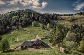 free picture landscape house nature hill tree wood mountain