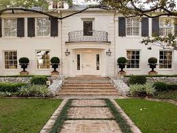 Jan Showers Home Exteriors White Brick Colonial White Brick Home Traditional