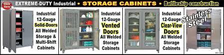 Heavy Duty Storage Cabinets Heavy Duty Industrial Storage Cabinets Standard Shelving