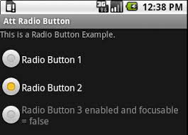 android radio button radio button for android at t developer
