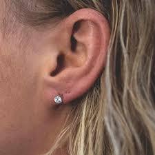 grande earrings cut diamond earrings single stud the gld shop