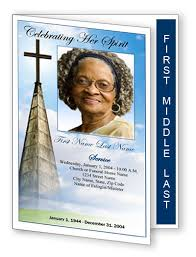 Unique Funeral Programs Tri Fold Funeral Program Template Printable Bi Fold And Tri Fold