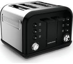 Morphy Richards 2 Slice Toaster Buy Morphy Richards Accents 242031 4 Slice Toaster Black