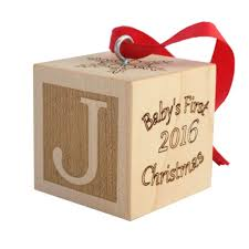 baby s ornament wooden block