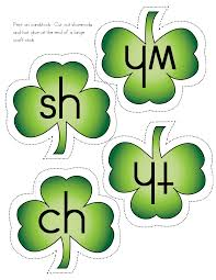coloring page magnificent shamrock activities digraphs coloring