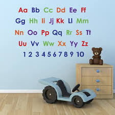 alphabet wll sticker kids wall strickers nursery stickers alphabet alphabet and numbers wall sticker pack educational nursery stickers