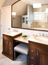 bathroom vanity with makeup station double espresso free shipping