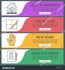 floor plan financing agreement real estate web banner templates set stock vector 674044129