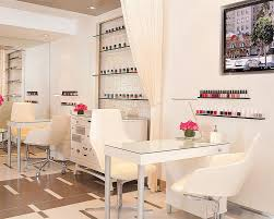 Manicure Bar Table Nail Bar Just Needs A Few Colorful Toss Pillows To Break Up That