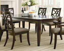 espresso dining room set coaster 103531 meredith espresso dining table with 2 leaves