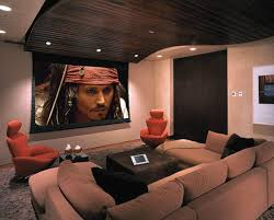 Projector Media Room - this is sort of how i picture my media room to look like although