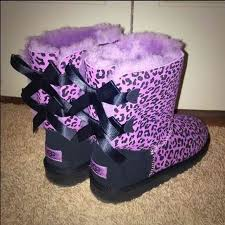 ugg bailey bow sale size 7 14 ugg shoes ugg bailey bow pink leopard print boots 7