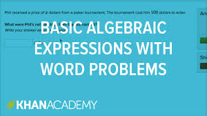 how to write basic algebraic expressions from word problems 6th