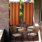 furniture dark brown reds bamboo grommet panel with sheer curtain