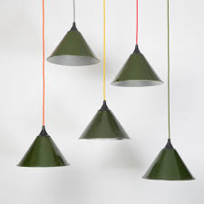 Green Pendant Lights Army Lights Trainspotters