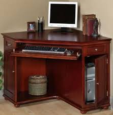 Corner Computer Desk With Drawers Appealing Cherry Wood Computer Desk 36 Corner Office Ideas Using