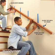 Handrail Banister Install A New Stair Handrail Stair Handrail Stair Railing And