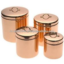 kitche canisters rose gold color copper canisters elegant copper