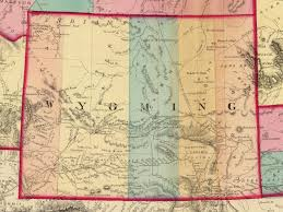 Montana County Map by Wyoming Places Carbon County