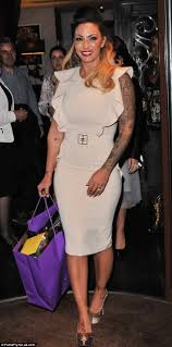 chandler alexis tattoo jodie marsh attempts feminine look but it u0027s ruined by sleeve