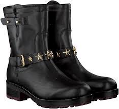 biker boots black tommy hilfiger biker boots j1285ill 2a omoda com