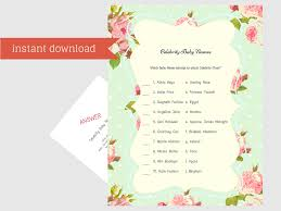 free celebrity baby shower games baby shower ideas themes games