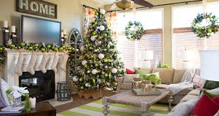 shining living room home for christmas decoration show appealing