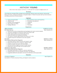 Resume Sample For Office Assistant by 5 Complete Resume Examples Rn Cover Letter