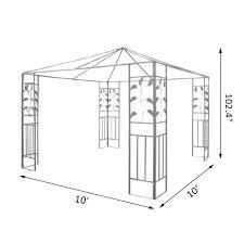 Metal Gazebo 8 X 10 by Aosom Gazebo Tents Tents Canopies U0026 Gazebos Outdoor