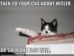 Advice Hitler Meme - talk to your cat about hitler or someone else will i can has