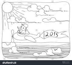 sketch sheep flies on airplane stock vector 216090361 shutterstock