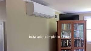 fujitsu wall mounted air conditioner fujitsu 9rls3h most efficient heat pump youtube