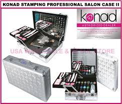 konad stamping nail art professional salon case ii set kit with